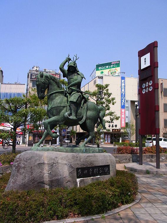 上田駅前にいる幸村!!