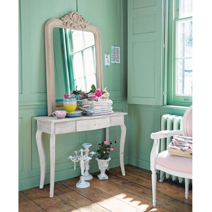 Table console en bois grise l 104 cm maison du monde for Maison du monde console