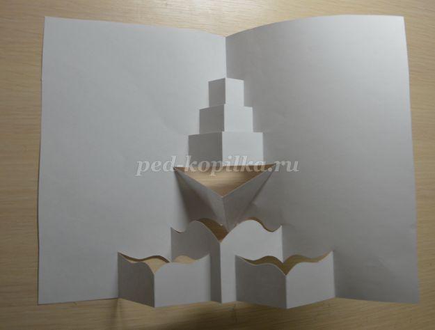 Новый год, объемная открытка на 23 февраля своими пошагово