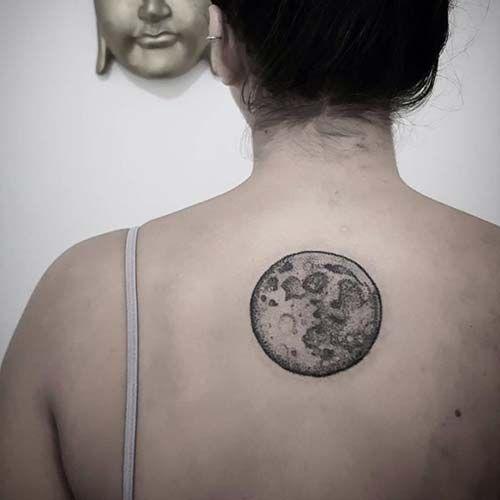 kadın sırt dolunay dövmesi woman back fullmoon tattoo