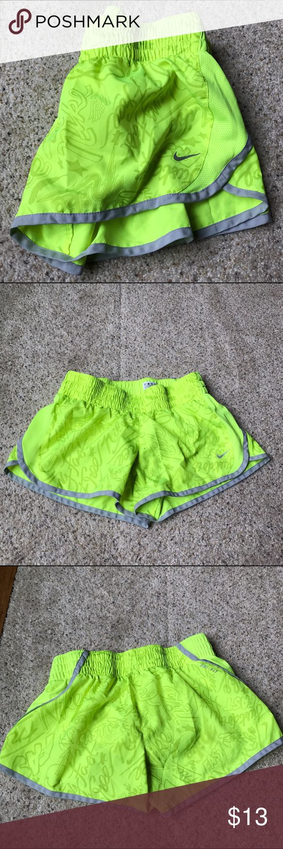 Nike Dri-Fit Neon Running Shorts In good condition  nike Shorts