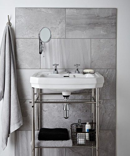 Amazing Patterns Work Brilliantly In Bathrooms  Think About The Intricate Design And Daring Colours Used In Victorian Interiors You Can Easily Create This Look With The Henley Cool Tile From Topps Tiles  These Home Improvement Ideas Wont Come