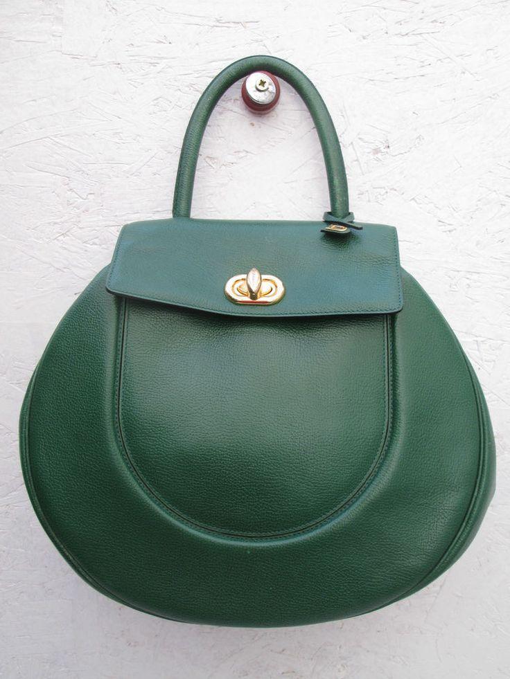 -AUTHENTIQUE sac à main  DELVAUX  Bruxelles   cuir  TBEG vintage bag #Sacportmain