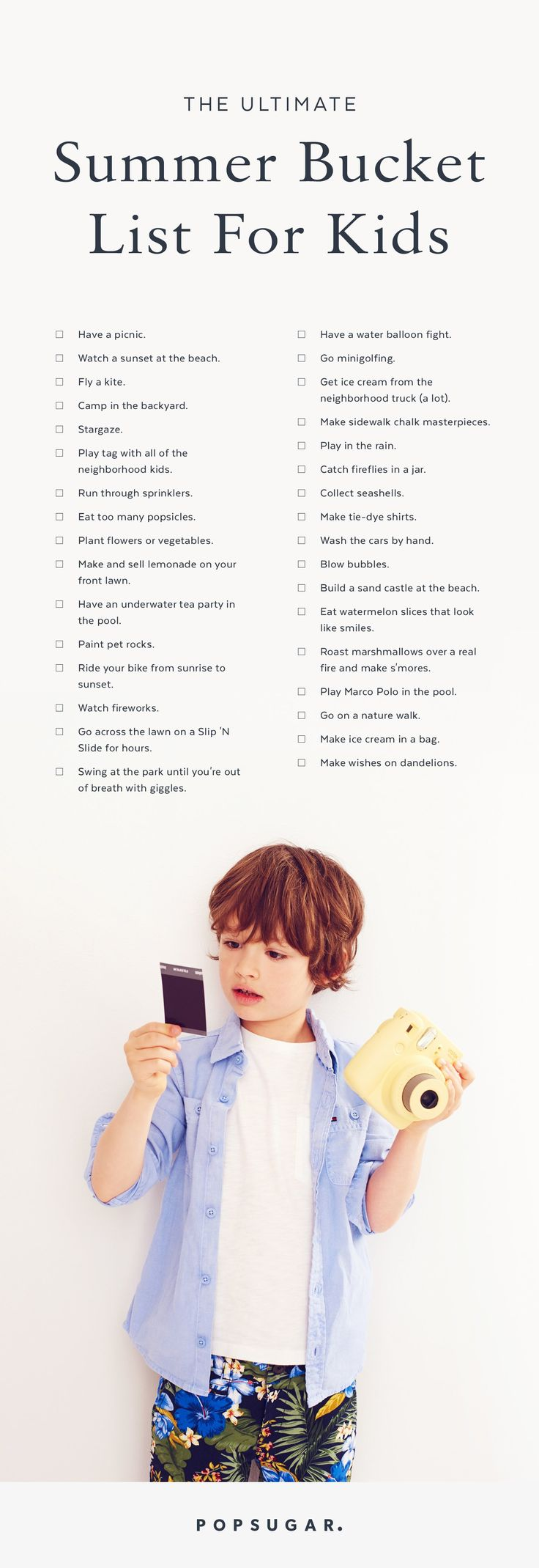 Dies ist die ultimative nostalgische Sommer-Bucket-Liste für Ihre Kinder  – Kid Stuff