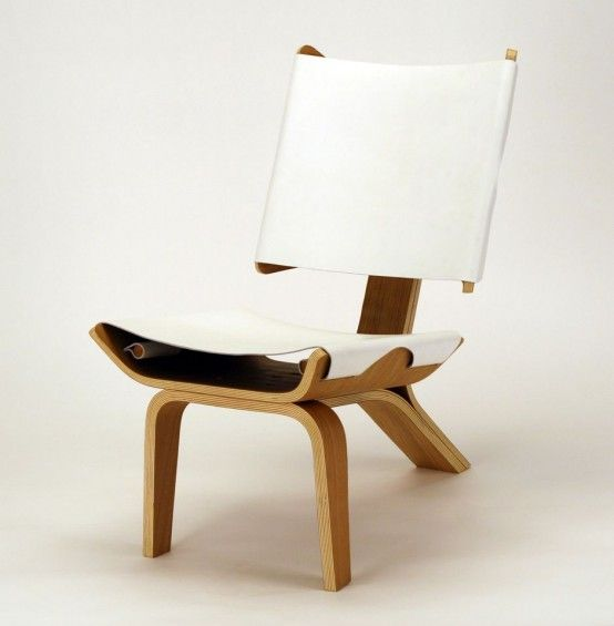 Aesthetically Brilliant Chair Made Of Bent Plywood And Leather | DigsDigs