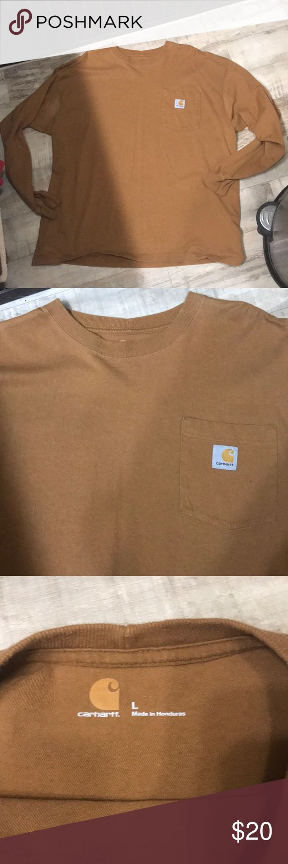 Bundle 2 Carhartt long sleeve pocket t shirts Both Like new. Only wore a few times during the late winter season then went up a size the next winter.  No holes or stains in either and really no signs of wear  at all Carhartt Shirts Tees - Long Sleeve