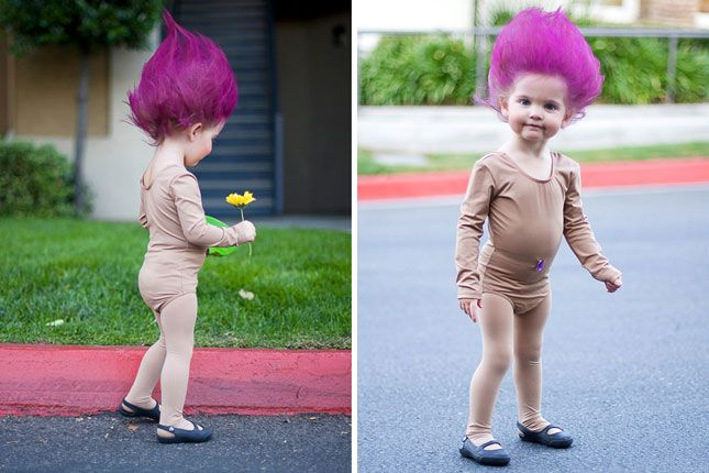 OMG - would Leo absolutely HATE me if I sprayed and blow-dried his hair like this and made him a troll for Halloween?!??!?