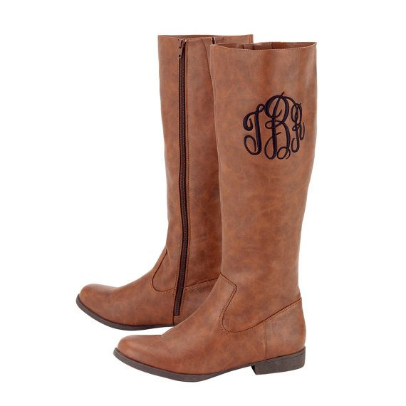 Boots Monogrammed Boots Personalized by TheFlowerFairyShop on Etsy