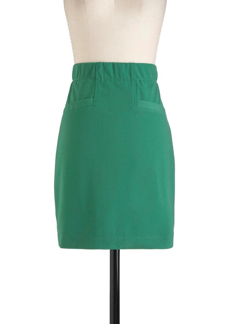 Green Machine Skirt | Mod Retro Vintage Skirts | ModCloth.com