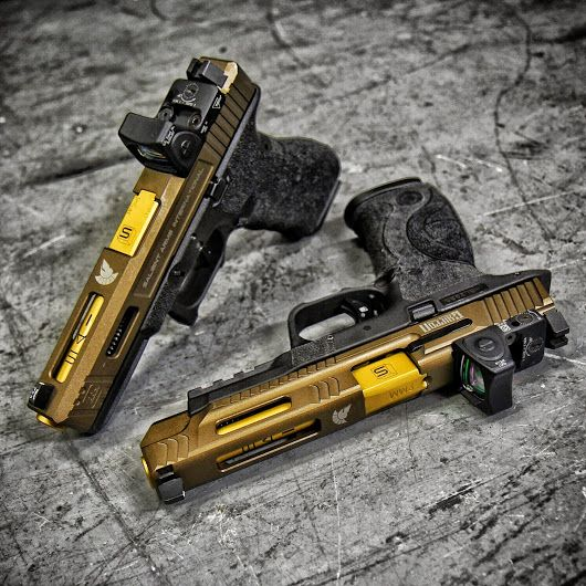 Just got these beauties in. Griffon X Salient Glock 17 Griffon X Salient M&P Photo taken at Only The Best Firearms & Accessories by Metalhead Photograph... - Only the Best Firearms & Accessories - Google+