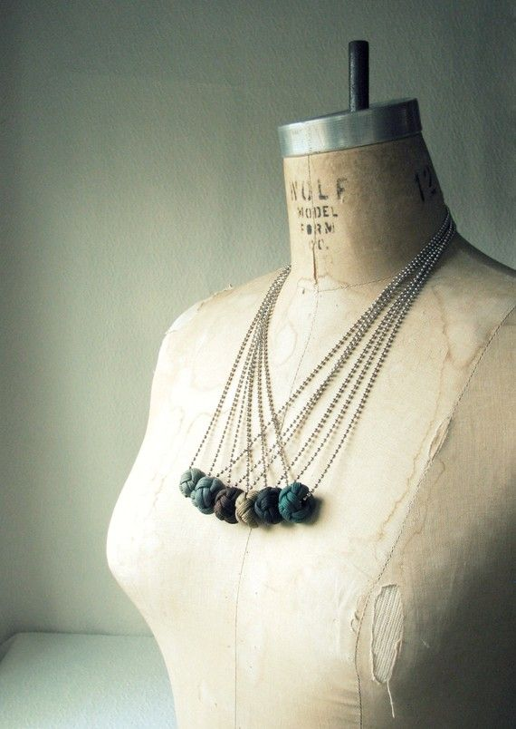 Turks Knot Necklace in Night by WesleyAsher on Etsy