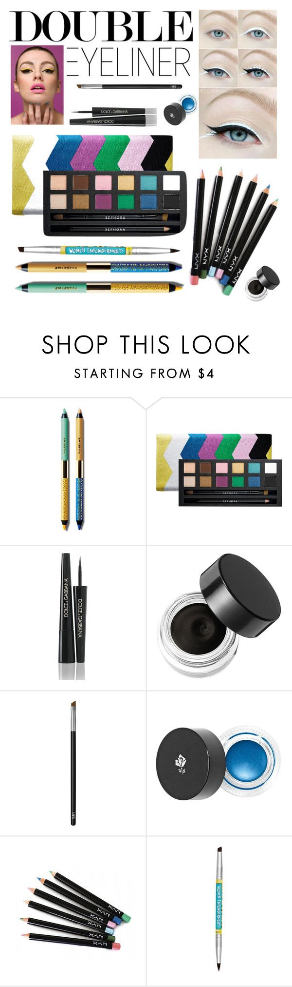 """Double Eyeliner"" by stylebycharlene on Polyvore featuring beauty, Smashbox, Sephora Collection, Dolce&Gabbana, Napoleon Perdis, NARS Cosmetics, Lancôme and NYX"