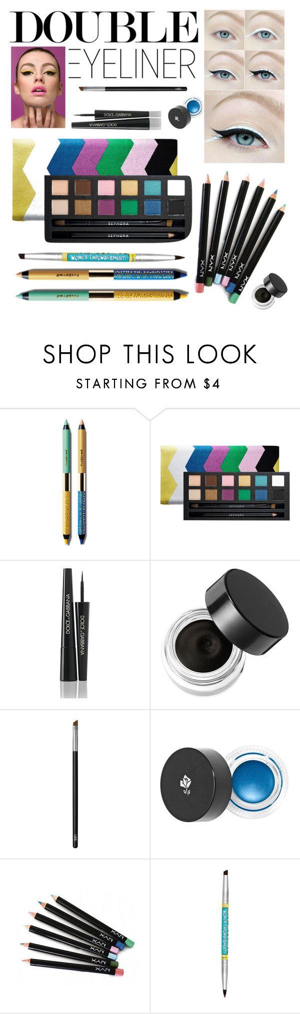 """Double Eyeliner"" by stylebycharlene on Polyvore featuring beauty, Smashbox, Sephora Collection, Dolce&Gabbana, Napoleon Perdis, NARS Cosmetics, Lancôme and NYX"