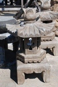 Hand Carved Stone Japanese Lantern For Garden Ornament Or Bonsai Garden At  Charlies Antiques In Williamsburg