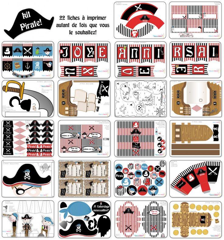 Anniversaire pirate kit imprimer http fetesetmalices for Idee deco kot