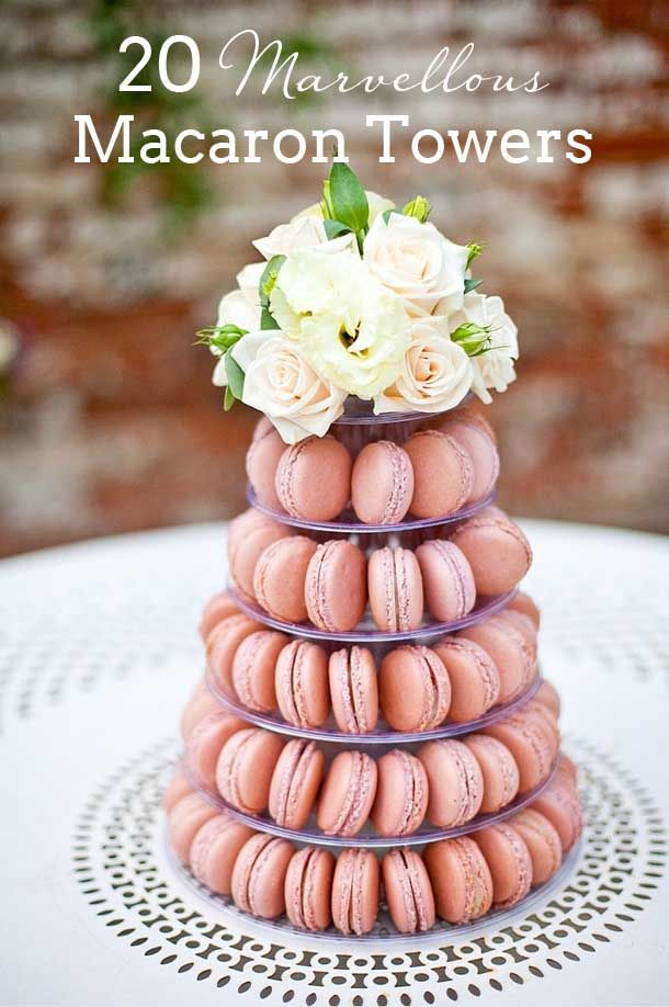 Macaroon Tower Wedding Cakes | SouthBound Bride | http://www.southboundbride.com/macaron-tower-wedding-cakes | Credit: Anneli Marinovich