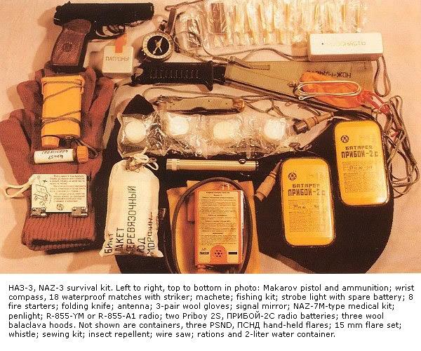 Soviet Soyuz survival kit (including a Makarov pistol)