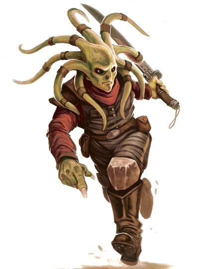 The Nautolans, sometimes referred to as the Nautiloids, were an amphibious humanoid species from the planet Glee Anselm. Nautolans possessed physiology common to amphibious species, including low light vision and excellent swimming skills. They had smooth green, blue, or brown skin, and large black or dark maroon eyes with lids that were seldom used. They were capable of breathing underwater; however, unlike other water-based species, Nautolans did not experience difficulties on land.