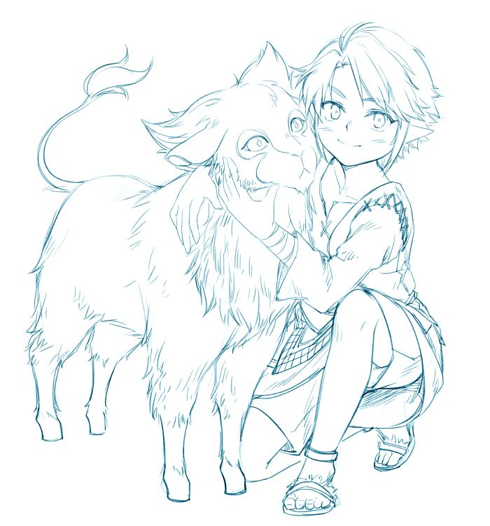 TP link and an ordon goat