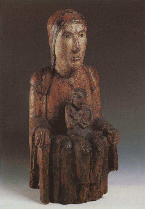 Ecole Mosane. Vierge d'Évegnée, vers 1070. Musée d'art religieux et d'art mosan, Liège.