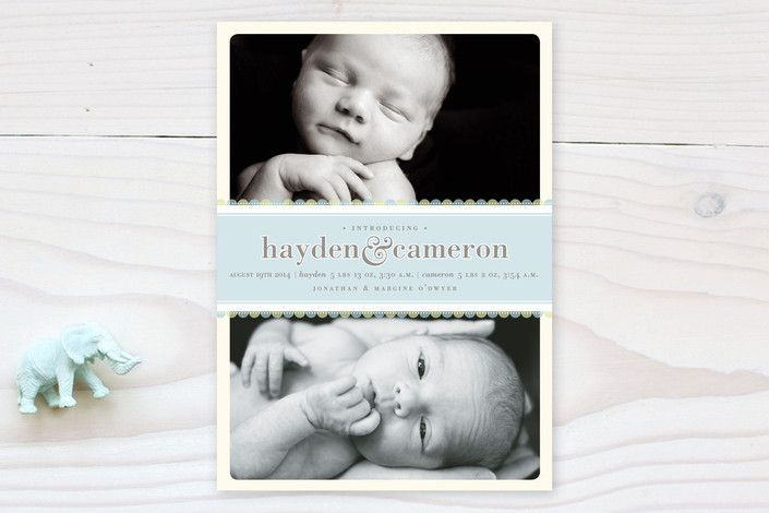 Sweet Scallop Birth Announcements by pottsdesign at minted.com