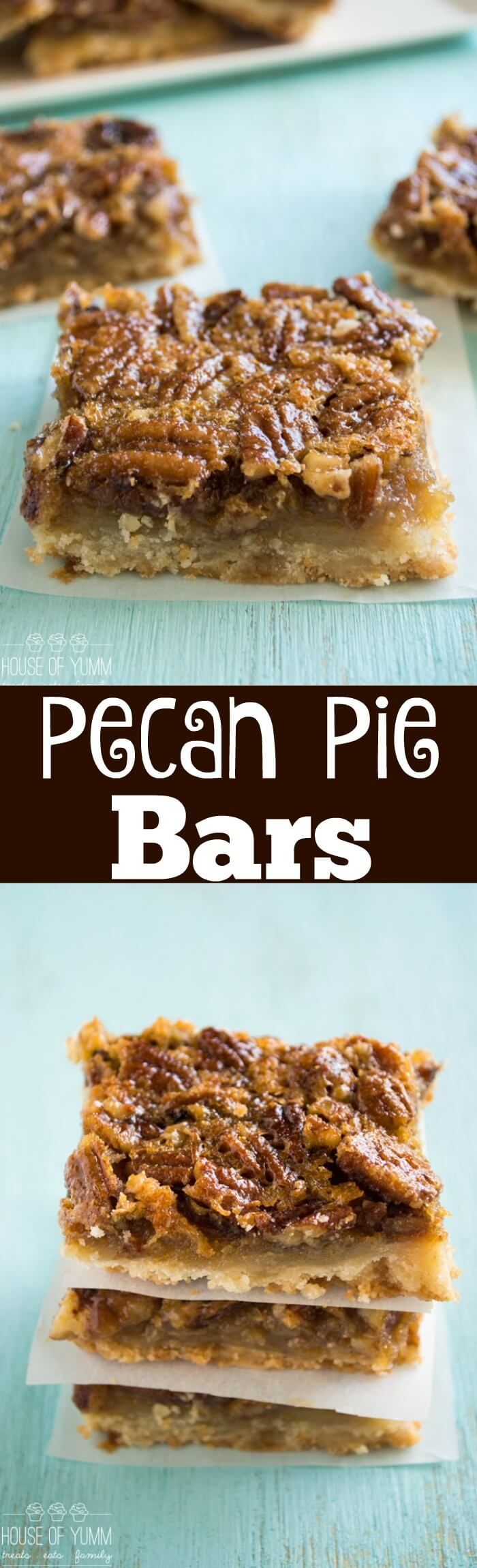 This Pecan Pie Bar is the perfect laid-back version of it's cousin the pie. Pecan Pie filling on top of a flaky, sugar cookie type crust.