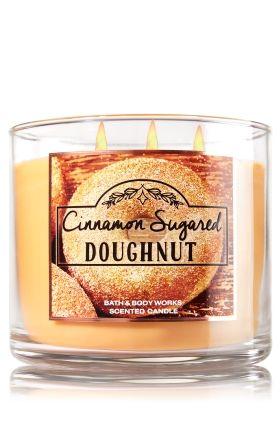 Cinnamon Sugared Doughnut - 3-Wick Candle - Bath & Body Works - The Perfect…