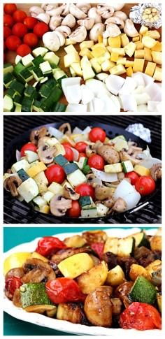 Easy Grilled Vegetables—a simple method for grilling vegetables this summer!