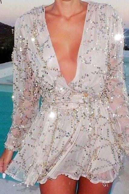 In love with the style and fit of this sequin dress!