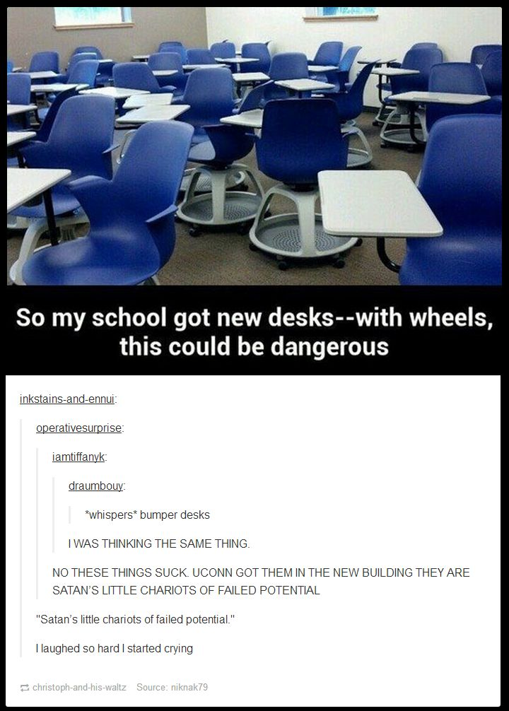 These chairs would be used for hallway races... OF DOOM! // funny pictures - funny photos - funny images - funny pics - funny quotes - #lol #humor #funnypictures