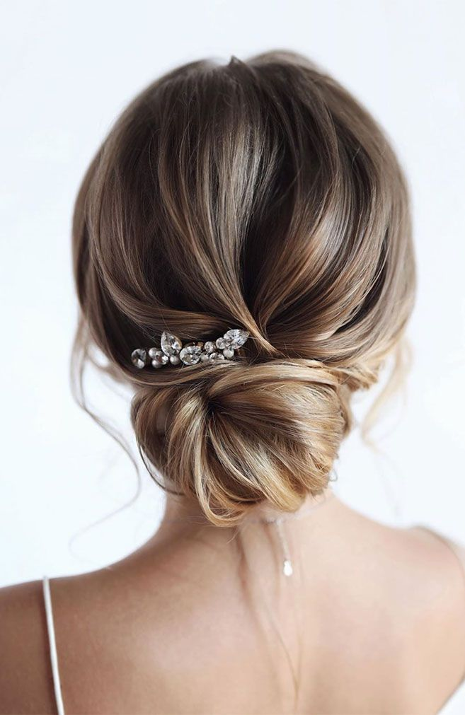 100 Prettiest Wedding Hairstyles For Ceremony and Reception messy updo bridal hairstyle,updo hairstyles ,wedding hairstyles ,wedding hair , hairstyles ,updo