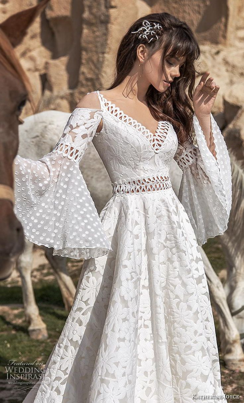 Weddinginspirasi.com featuring – katherine joyce 2020 bridal cold shoulder long …