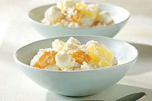 #kraftrecipes Five-Cup Fruit Salad--pineapple, mandarin oranges, sour cream, coconut and marshmallows