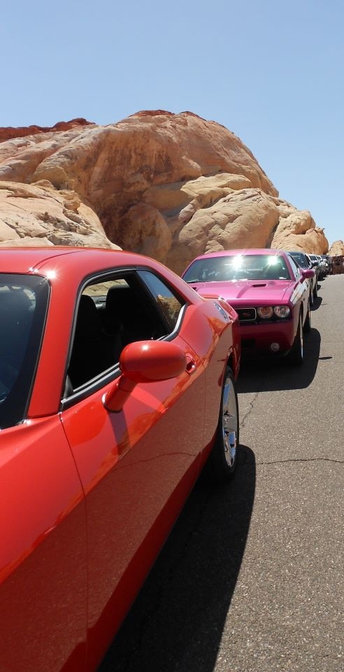 Dodge Challengers @ The Valley Of Fire Outside Las Vegas Nevada