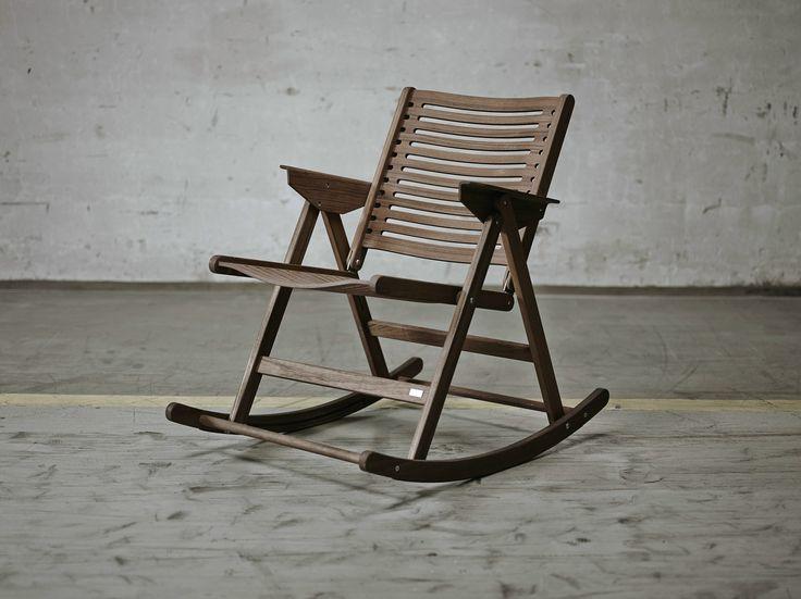 Sedia a dondolo pieghevole in legno Collezione Rex by Rex Kralj   design Niko Kralj