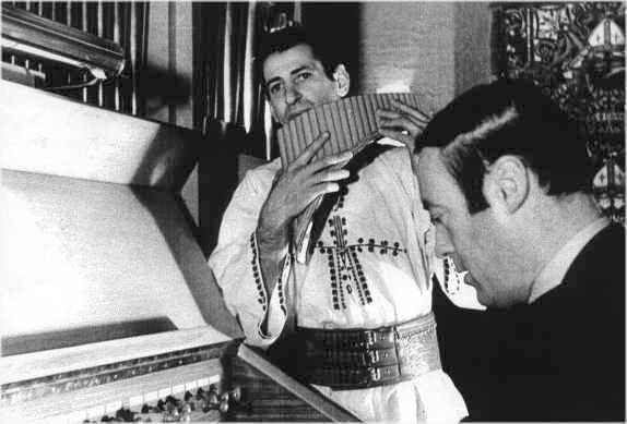 """Gheorghe Zamfir: known for playing an expanded version of the traditional Romanian-style pan flute (Nai), also  known as """"The Master of the Pan Flute""""."""