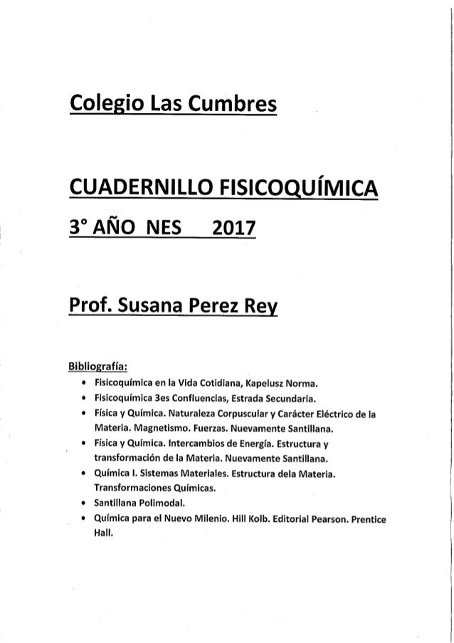 3 Año Fisico Química 2017 Messages Like You