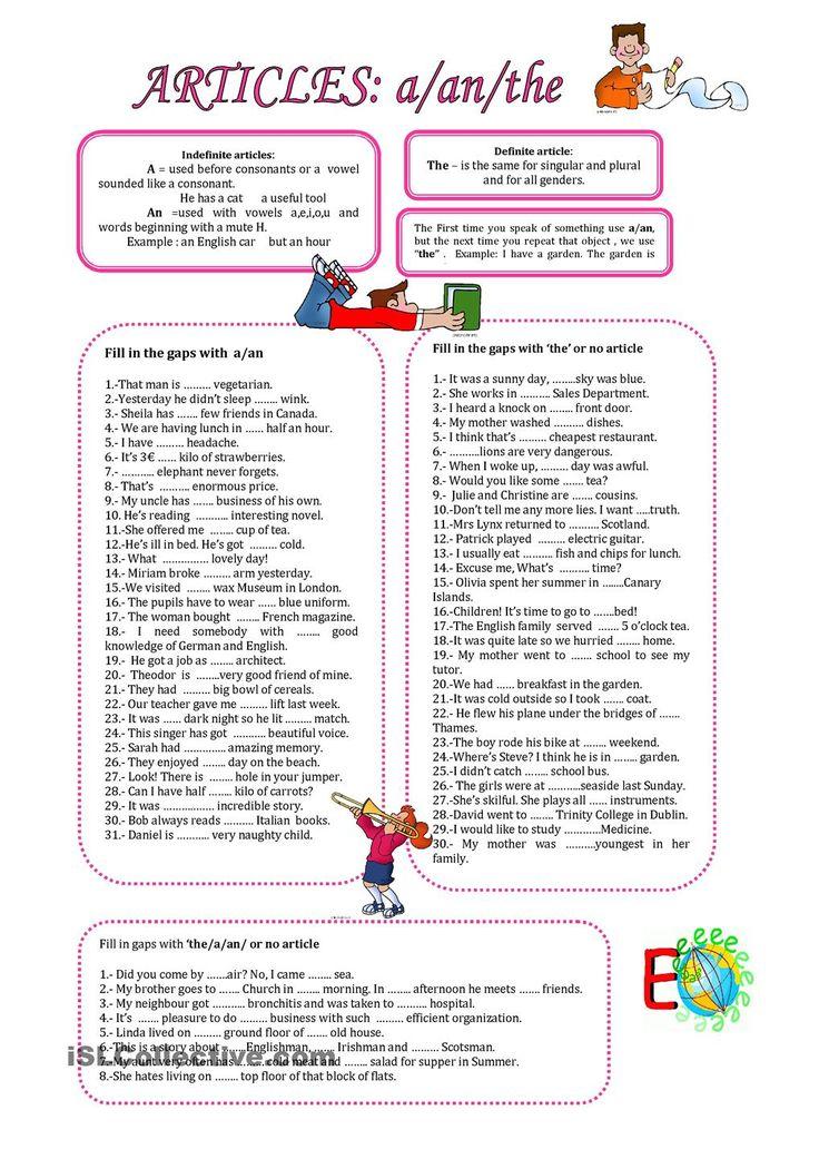 ARTICLES;A,AN, THE English articles, English grammar