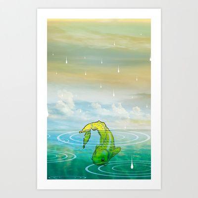Pez chino Art Print by lunatico - $23.92