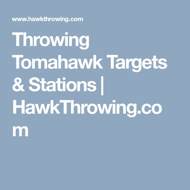 Throwing Tomahawk Targets & Stations | HawkThrowing.com
