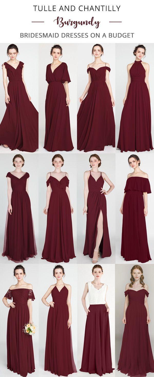 Long Short Bridesmaid Dresses 79 149 Size 0 30 And 50 Colors Burgundy Chiffon Bridesmaid Dresses Winter Bridesmaid Dresses Red Bridesmaid Dresses