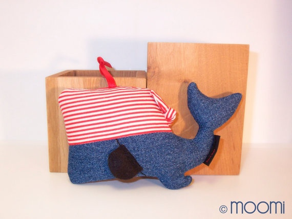 baby pirate whale rattle @etsy