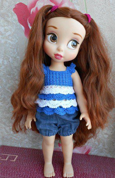 Doll Clothes / Disney Animator Doll Belle / Crochet