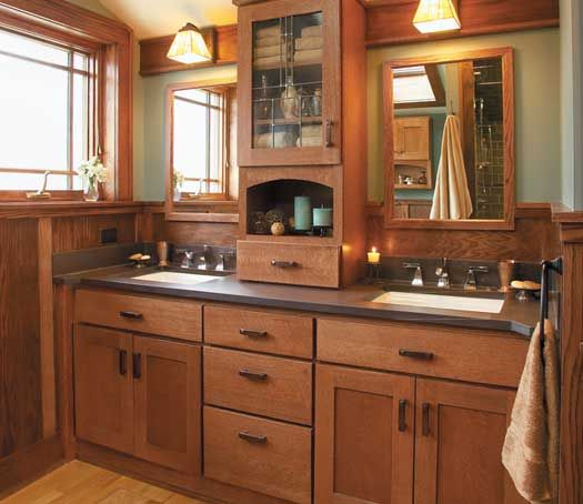 Fieldstone Cabinetry Farmington Door Style In Quarter Sawn Oak Finished In  Toffee With Chocolate Glaze. Cool Bathroom IdeasBathroom ...