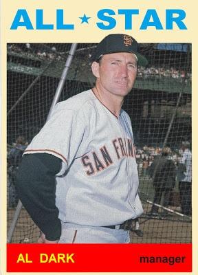 1964 Topps Alvin Dark All Star. San Francisco Giants. Baseball Cards That Never Were