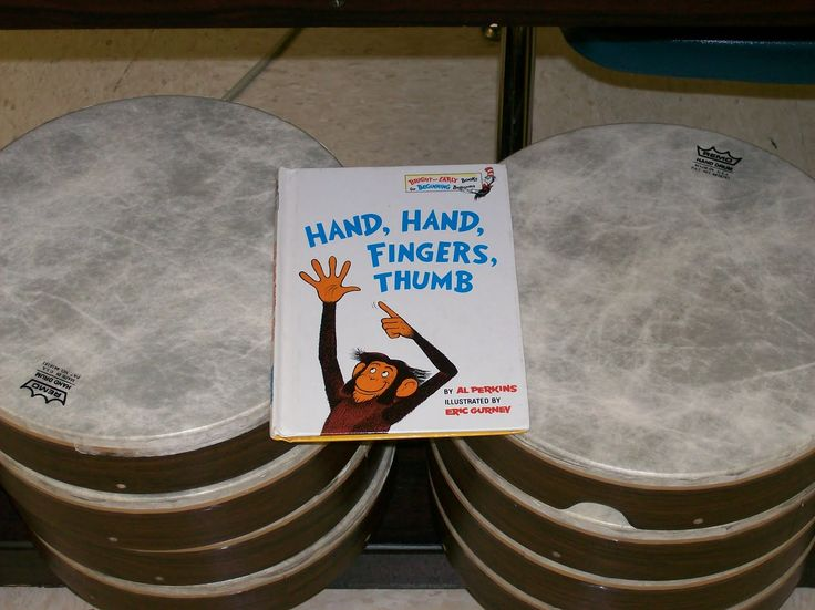 "Hand Drum lesson for book, ""Hand, Hand, Fingers, Thumb."" Great for when our hand drums come in!"