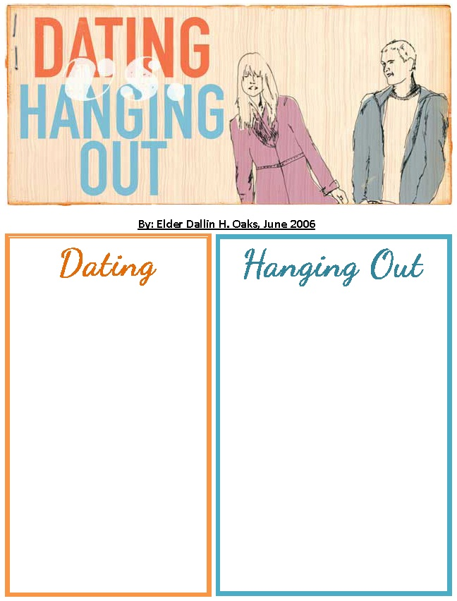 Hanging out vs dating college