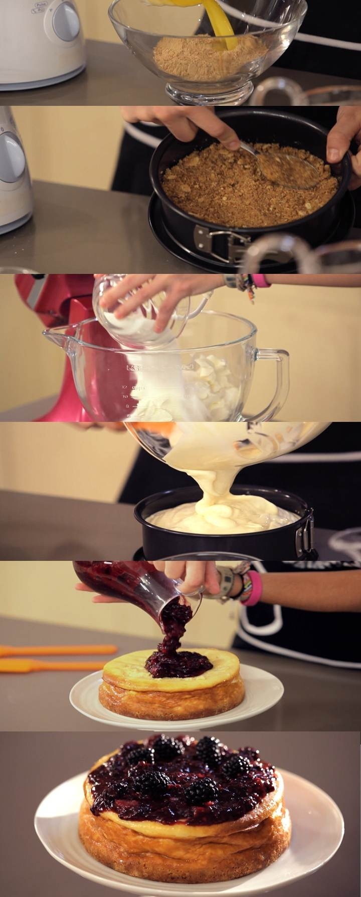 Programa 3 Cupcake Maniacs:  Cheesecake con salsa de mora