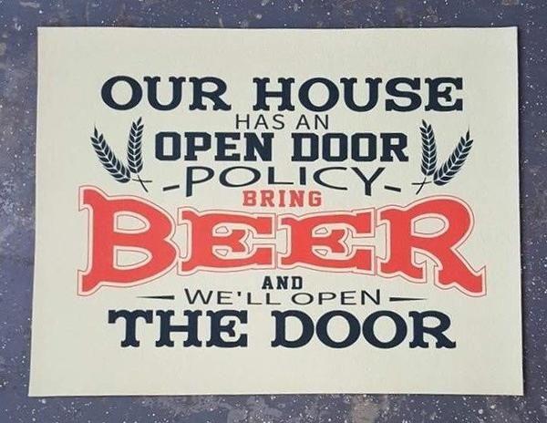 Open Door Policy Door Mat