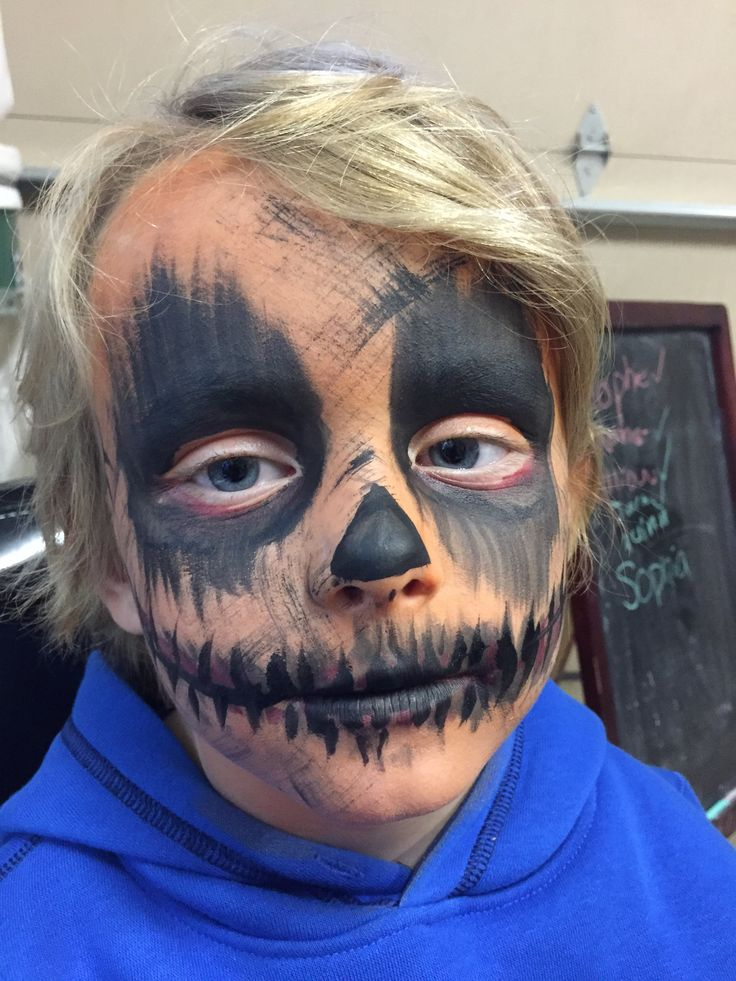Scary scarecrow Halloween face painting